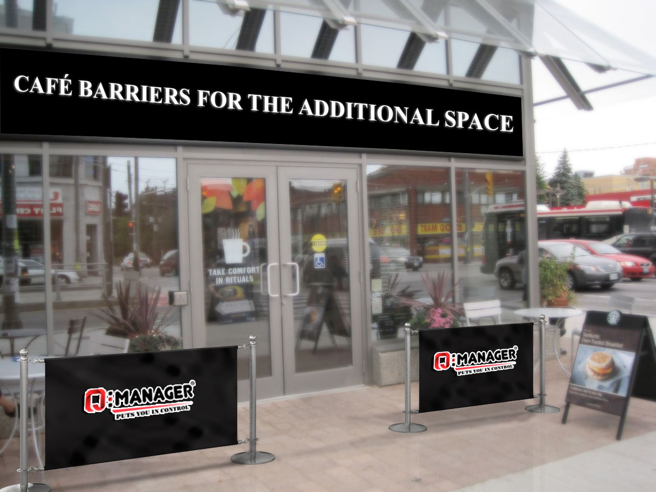 Café Barriers for the Additional Space