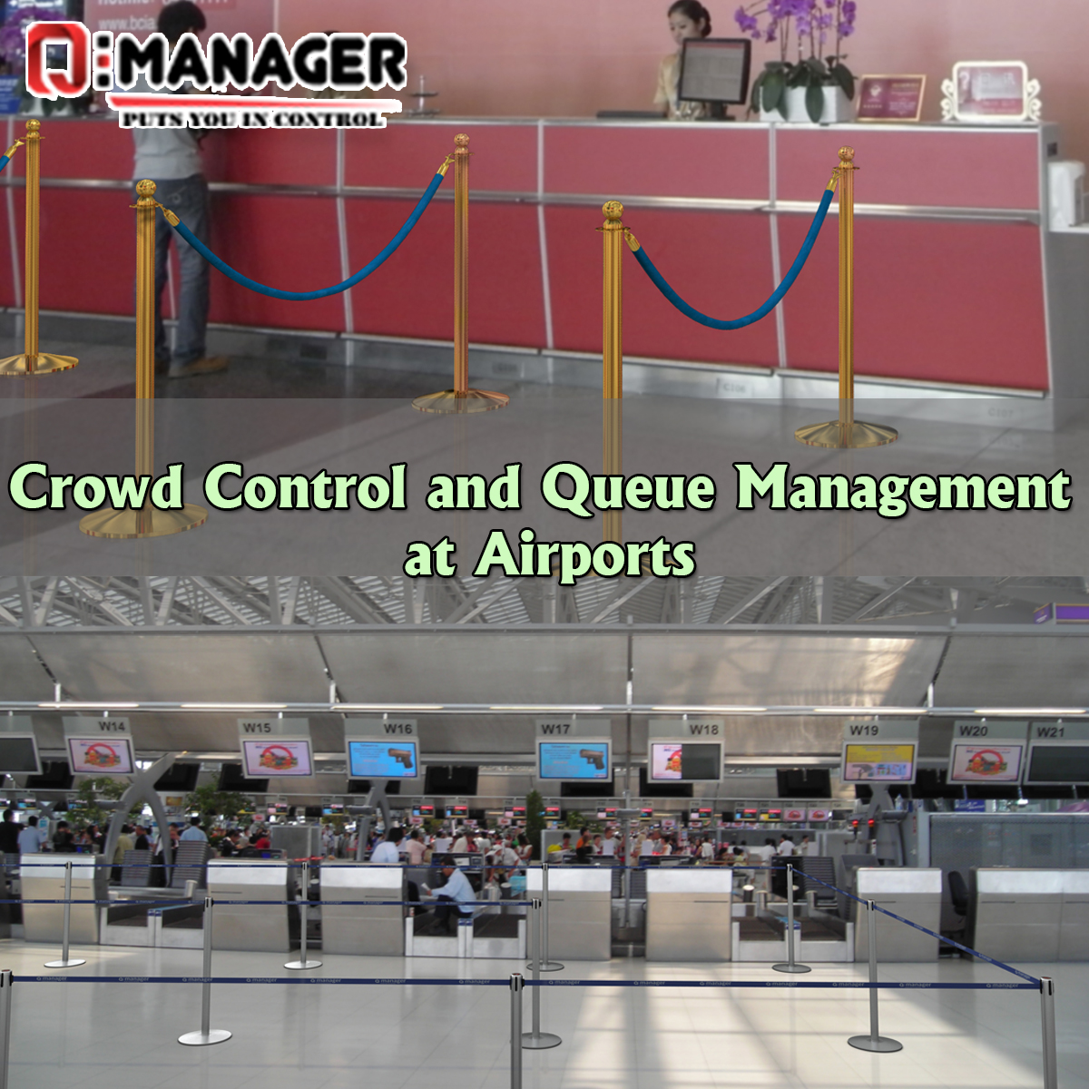 Crowd Control and Queue Management at Airports