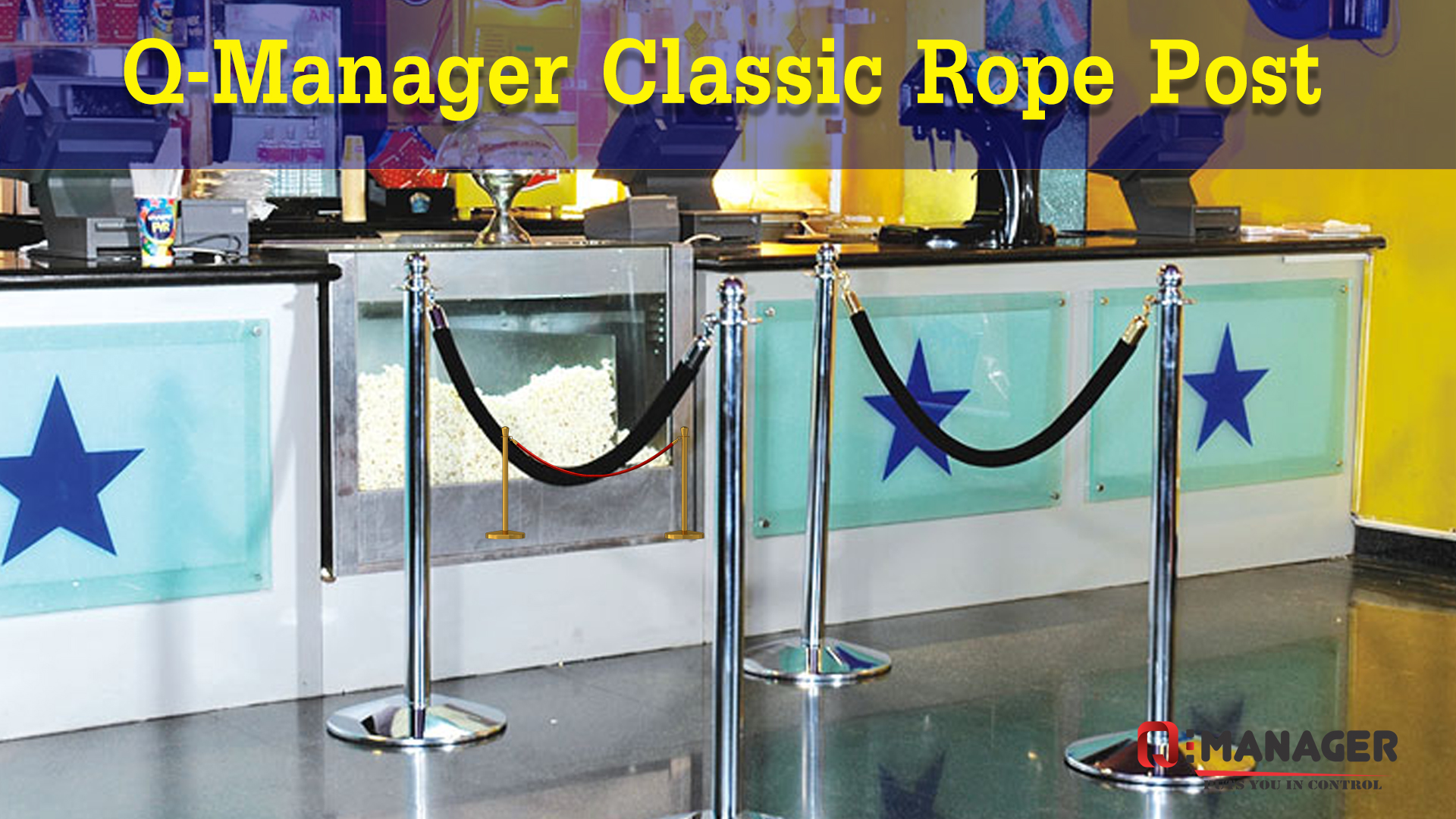 Q-Manager Classic Rope Post