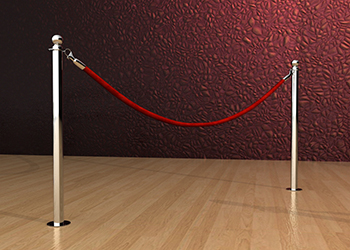 Classic Rope Post in Chrome Floor Mount