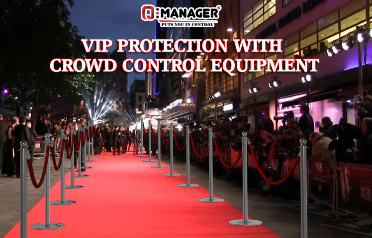VIP PROTECTION WITH CROWD CONTROL EQUIPMENT