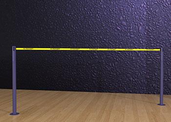 Belt-Post-Floor-Mount