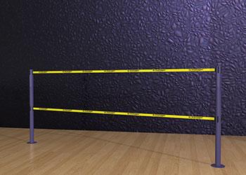 Double-Belt-Post-Floor-Mount