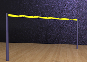Powder Coated Retractable Belt Post Floor Socket