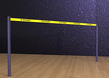 Powder Coated Retractable Double Belt Post Floor Socket