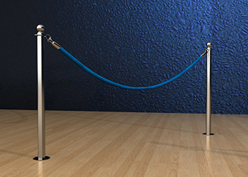 Classic Rope Post in Stainless Steel Floor Mount