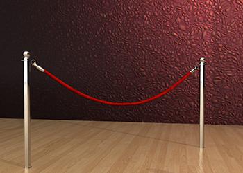 Classic Rope Post in Chrome Floor Socket