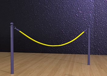 Powder-Coated Classic Rope Post Floor Socket