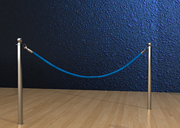 Classic Rope Post in Stainless Steel Floor Socket